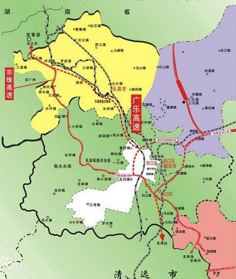 广乐高速公路线路图