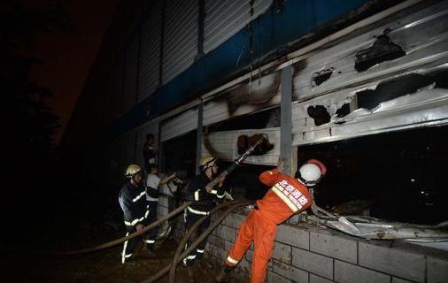 北京地铁7号线起火