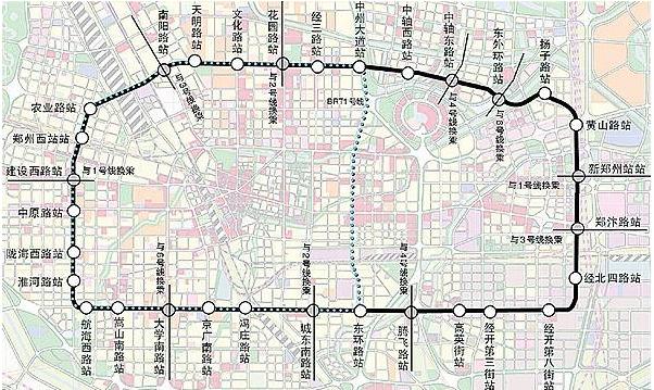郑州地铁5号线线路图图片