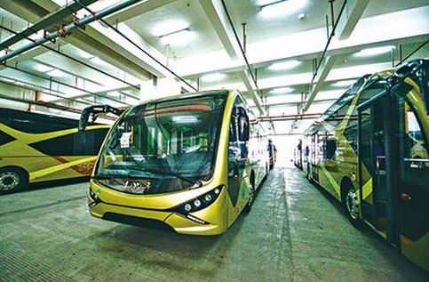 温州BRT一号线试运行1