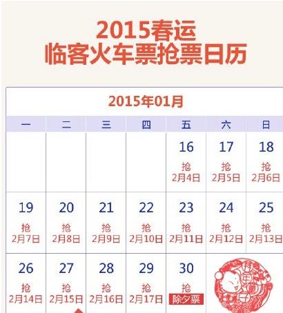 2015年上海临客列车时刻表