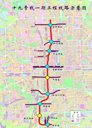 """北京开建""""地铁快线""""19号线图片"""