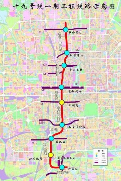 北京地铁19号线最新线路图图片