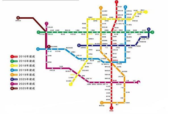 合肥地铁5号线最新线路图图片