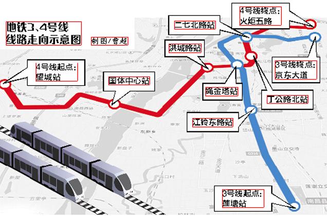 南昌地铁3号线线路图图片