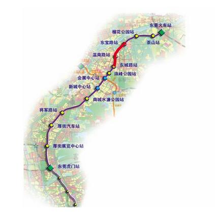 东莞地铁2号线开始调试图片
