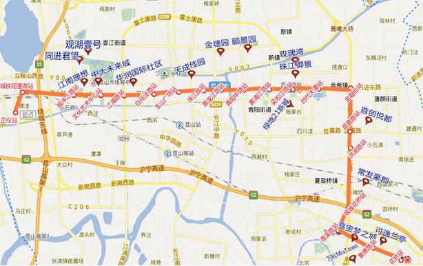 昆山地铁S1号线路图图片