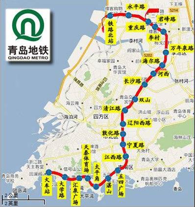 青岛地铁3号线线路图图片