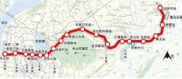 南京地铁4号线线路图