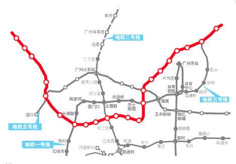 广州地铁6号线二期线路图