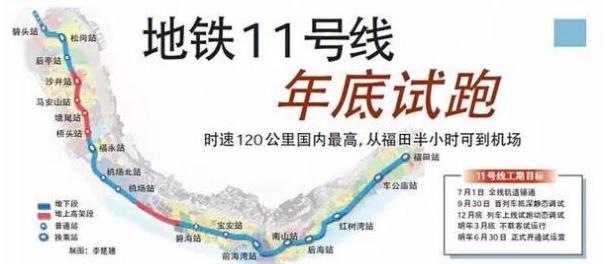 深圳地铁11号线线路图图片