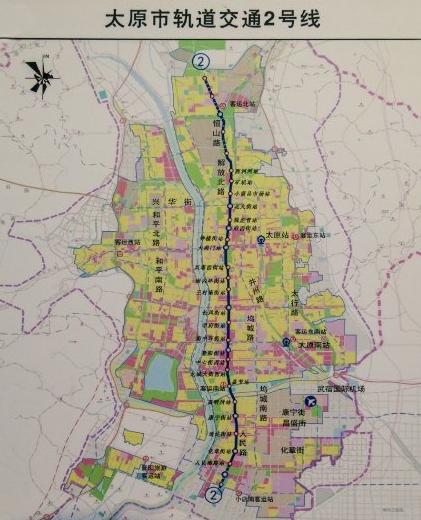 太原地铁2号线线路图