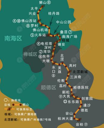 佛山地铁三号线8月开工图片