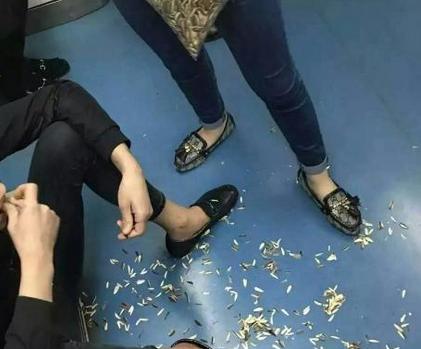 沈阳非主流地铁嗑瓜子