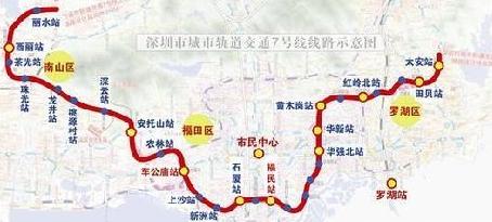 深圳市地铁1号线线路图片