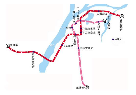 南昌地鐵4號線最新線路圖