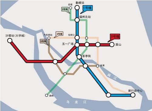 福州火车南站站9个