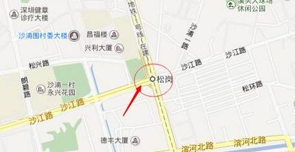 深圳地铁11号线松岗站位置图片