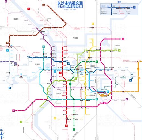 長沙地鐵規劃圖
