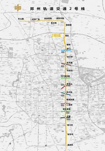 郑州2号线地铁线路图图片