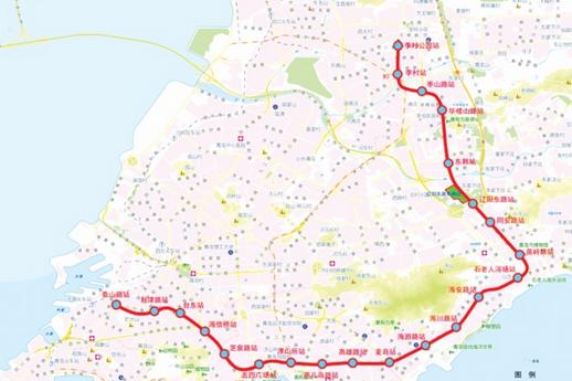 青岛地铁2号线规划图