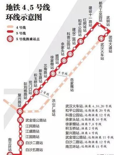 武汉地铁5号线线路图最新图片