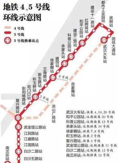 武汉地铁5号线最新线路图图片