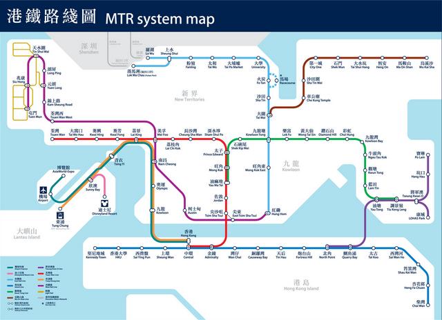 2016年香港地鐵線路圖