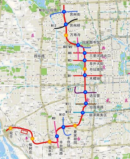 北京地铁1号线老线路图图片