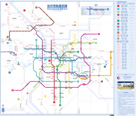 長沙地鐵6號線線路圖