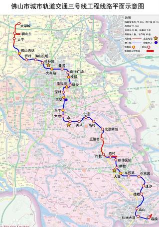 佛山地鐵3號線規劃圖