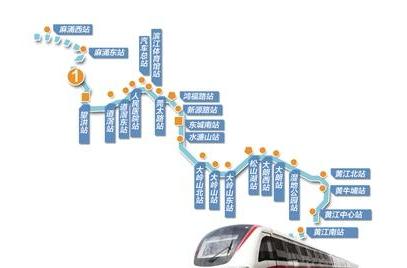 东莞地铁一号线线路图