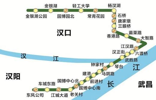 武汉地铁六号线线路图图片