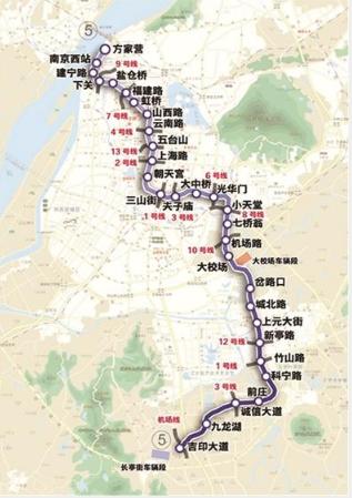 南京地铁五号线线路图图片