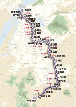 南京地铁5号线站点位置图片