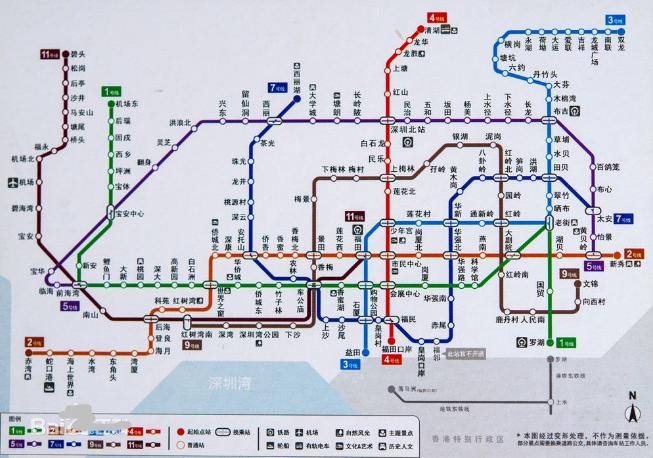 深圳最新地铁线路图