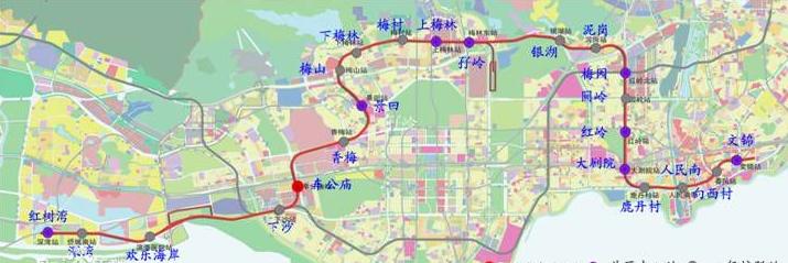 深圳地铁九号线线路图