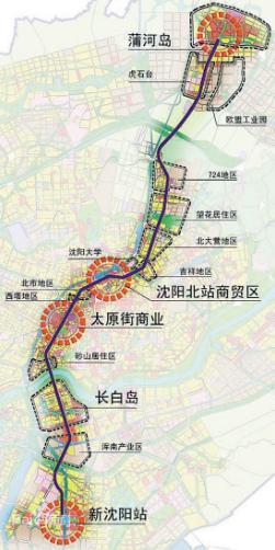 沈阳地铁四号线路图