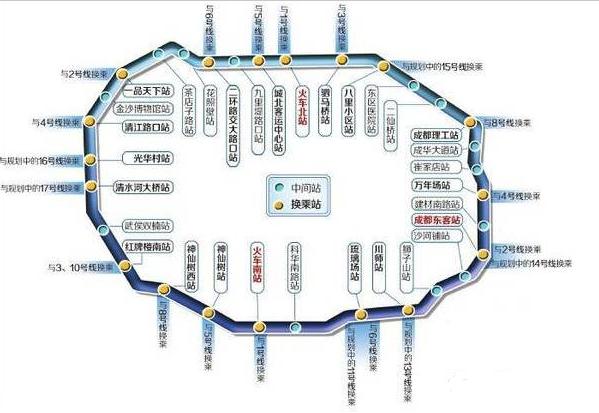 成都地铁七号线线路图