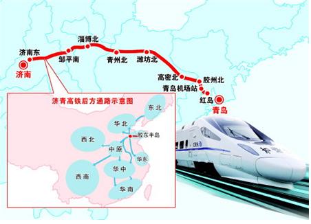 济青高铁规划图图片