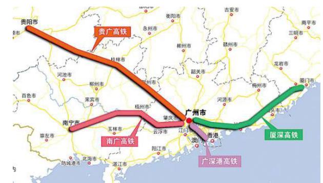 贵南高铁线路图图片