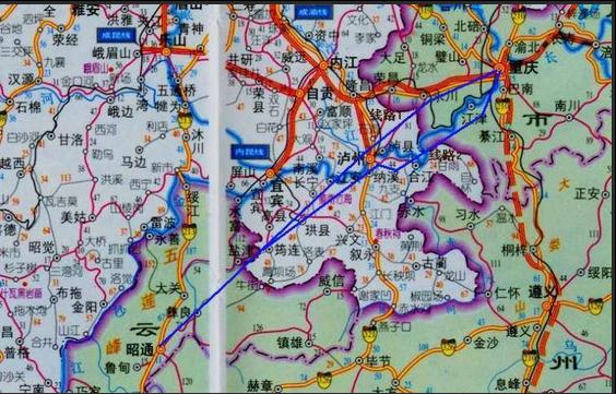 渝昆高铁线路图图片
