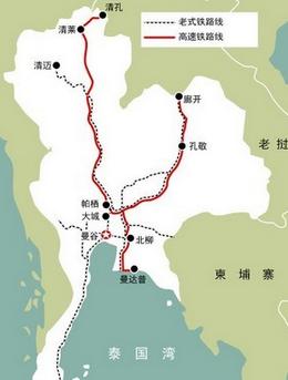 泰国高铁线路图图片