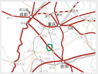 成贵高铁线路图