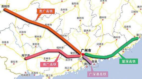 贵南高铁最新线路图图片