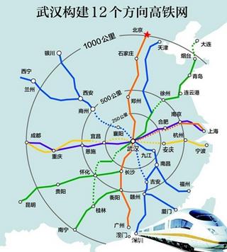 渝利铁路,宜万铁路,汉宜铁路,合武铁路,合宁铁路,沪宁高铁组成.