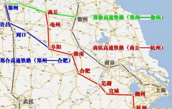 安九高铁路线_商合杭高铁详细线路图_高铁最新消息