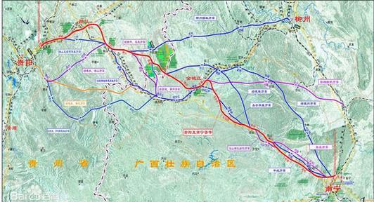 贵南高铁路线图图片