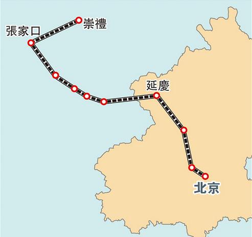 京张高铁线路图-京张城际铁路通车时间图片