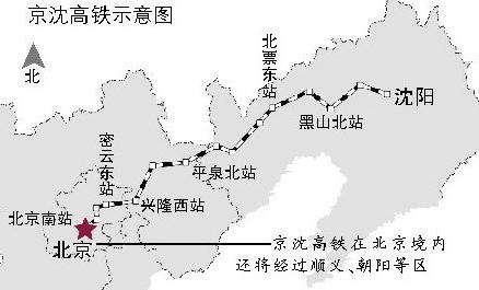 通辽,赤峰进入北京和呼和浩特的高铁通道